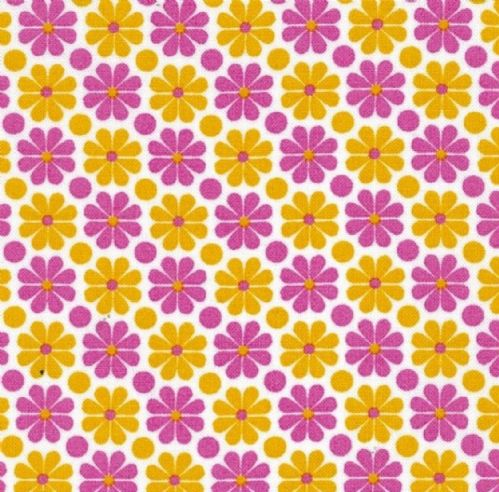 Ella Blue, The Linen Cupboard - Daisy (Pink) Fabric